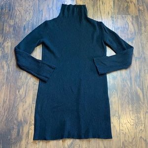Ann Demeulemeester Black Wool/Cashmere Dress